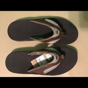Reef fanning Brown leather flip flop sandal size12